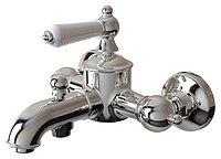 Смеситель Bravat Art F675109C-B для ванны с коротким изливом и аксессуарами