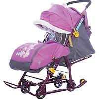 Санки-коляска Ника детям 7-2, Dog, орхидея, фото 1
