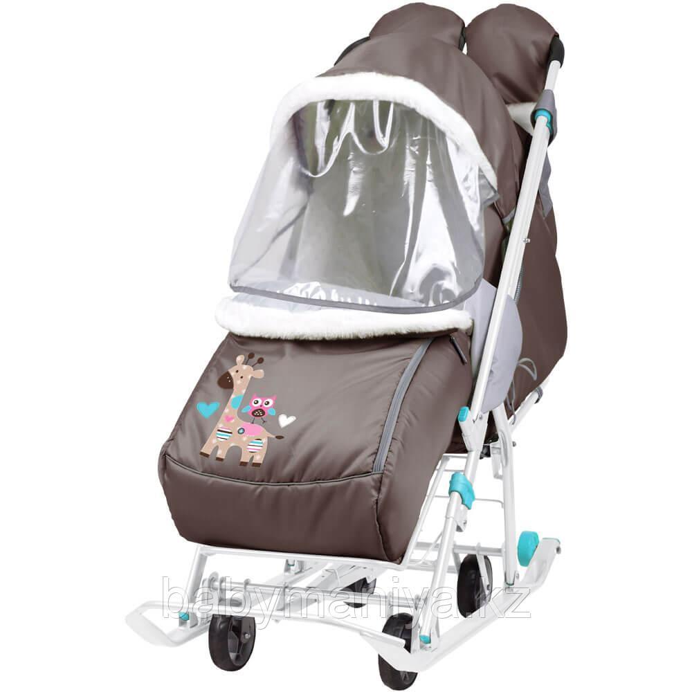 Cанки - коляска Ника Наши детки 2 Жираф шоколадный