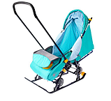 Cанки - коляска Ника Disney baby 1, Далматинец Голубой, фото 4