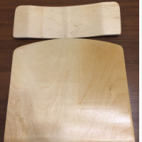 Сиденье и спинка стула из гнутоклееной фанеры