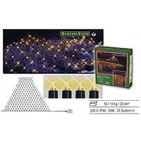 Гирлянда сетка 3x2х0,7м теплобелая кабель черный 1,8м стартовая 194лампы EXPO outdoor 484-33