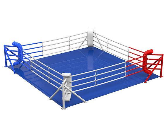 Ринг боксерский на упорах 6м х 6м (боевая зона 5м х 5м)