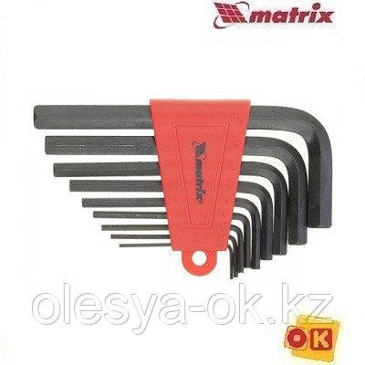 Набор шестигранников 2,0–12мм, 9 шт. MATRIX