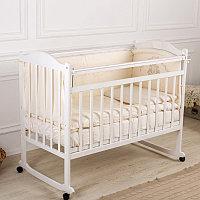 Детская кровать Incanto PALI с мишкой (колесо,качалка)(белый,венго)