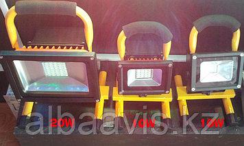 Прожектор светодиодный led 10 W переносной, софит с аккумулятором матрица SMD плитка