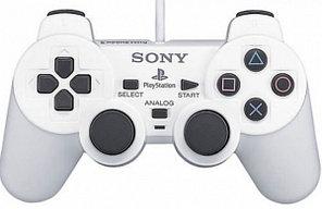 Аналоговый контроллер (джойстик) для игровой консоли Sony PlayStation 2 (Белый).