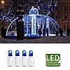 Гирлянда цепочка 3м голубая кабель белый дополнительная 30диодов LED outdoor 466-09-3
