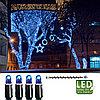 Гирлянда цепочка 3м голубая кабель черный дополнительная 30диодов LED outdoor 465-09-3