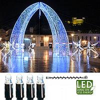 Гирлянда цепочка 3м холоднобелая кабель черный дополнительная 30диодов LED outdoor 465-08-3