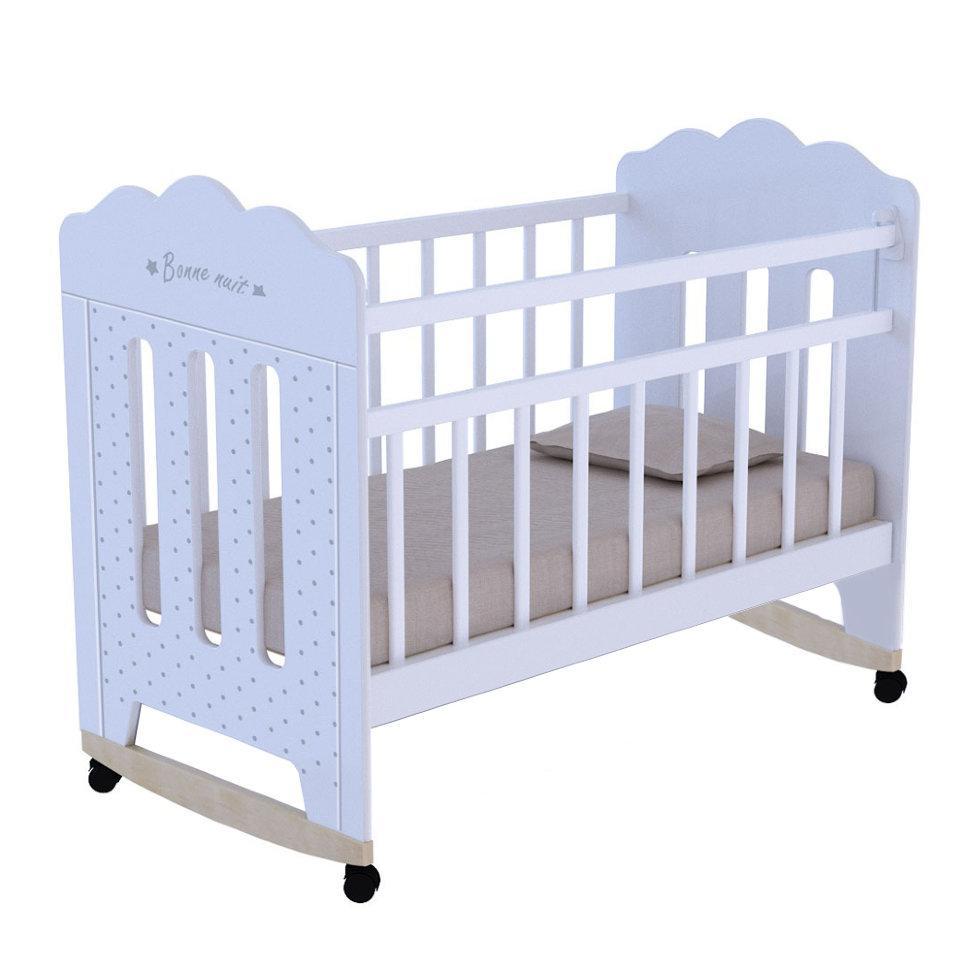 """Кровать детская ВДК """"BONNE"""", (белый)"""