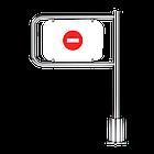 Калитка Oxgard К-11А, механическая, уличная, правая с дугой L=600, фото 2