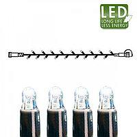 Гирлянда цепочка 5м холоднобелая кабель черный дополнительная 50диодов LED outdoor 465-08