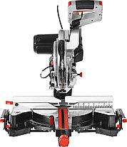Пила торцовочная, ЗУБР ЗПТ-255-1800 ПЛР, d= 255 x 30 с протяжкой, ременная передача, 1800Вт, лазер, фото 3