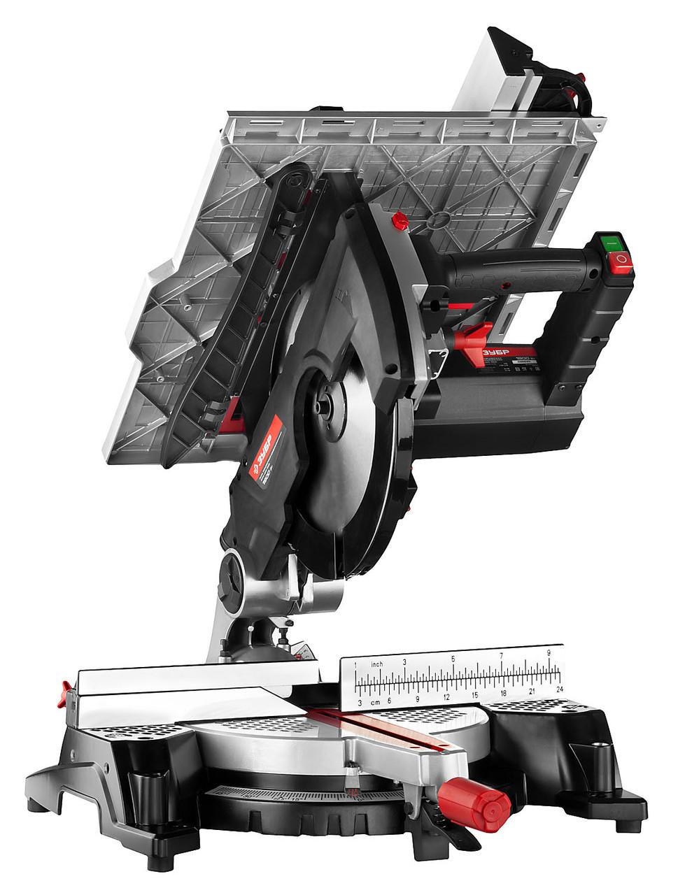 Пила торцовочная комбинированная, ЗУБР ЗПТК-305-1900, 305 мм