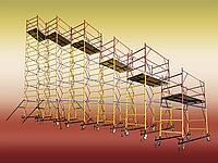 Строительная вышка тура для отделочных работ (леса строительные на колесах)
