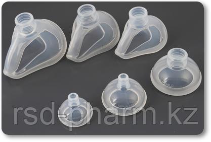 Маска кислородная силиконовая Plasti-med  (Турция), №0, №1, №2, фото 2
