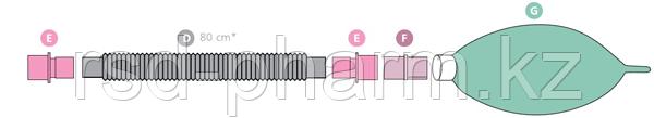 Контур дыхательный анестезиологический (гофрированный) Plasti-med  (Турция), педиатрический, фото 2