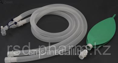 Контур дыхательный анестезиологический (гофрированный) Plasti-med, педиатрический, резервный мешок, фото 2