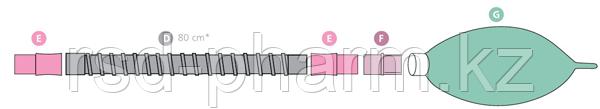 Контур дыхательный анестезиологический (Растяжимый) Plasti-med гладкоствольный 22F/22F, детский, фото 2