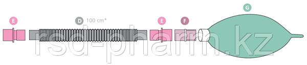 Контур дыхательный (Растяжимый) Plasti-med гладкоствольн 22F/22F, 2 влагосб, взрослый, фото 2