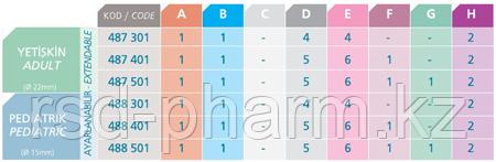 Контур дыхательный (Растяжимый) Plasti-med гладк 22F/22F, 2 влагосб, взр, доп линия, фото 3