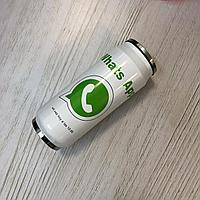 Симпатичный термос для напитков с соломой (с логотипом Whatsapp)