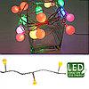 Гирлянда цепочка 6м желтая мигающая кабель прозрачный 5м 8функций 80диодов LED outdoor KA495234