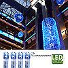 Гирлянда цепочка 7,0м голубая кабель прозрачный 10м 120диодов 8функций LED outdoor 499-49