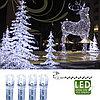 Гирлянда цепочка 7,0м холоднобелая кабель прозрачный 10м 120диодов 8функций LED outdoor 499-48