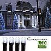 Гирлянда цепочка 7,0м холоднобелая кабель черный 10м 120диодов 8функций LED outdoor 498-48