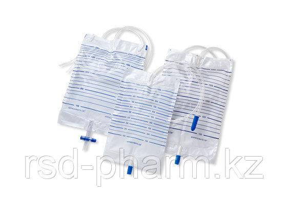 Мочеприемник однораз VOGT MEDICAL с крестовидным сливом, с 2 хлопчатобумаж креплениями, 1000 мл, фото 2