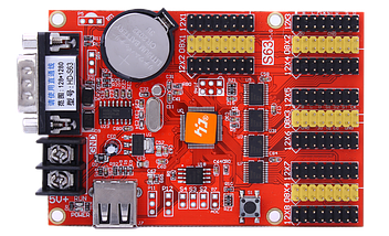 Светодиодный контроллер HD-S63 RS232 + U-Disk, фото 3