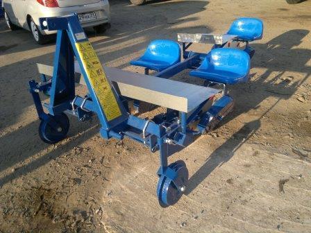 Рассадопосадочная машина Agromax 3х рядная S237/1, фото 2