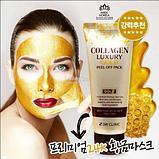 Золотая омолаживающая маска-плёнка 3W Clinic Collagen Luxury Gold Peel Off Pack , фото 3