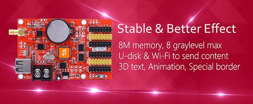 HD-U60-75 / W60-75 / U60 + / U62 + / E62 + Графический светодиодный контроллер, фото 3
