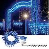 Гирлянда цепочка 7,1м синяя кабель синий 10м 120ламп 8функций MICRO outdoor 592-33