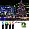 Гирлянда цепочка 8,0м разноцветная кабель черный 10м 80диодов LED outdoor 498-21