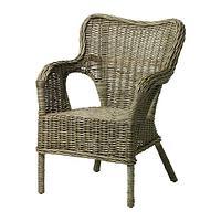 БЮХОЛЬМА Кресло, серый, фото 1