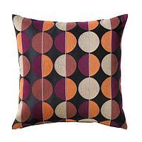 ОТТИЛЬ Чехол на подушку, черный, разноцветный, фото 1