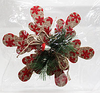 """Гирлянда """"Красная снежинка"""", картонная, 16 см"""