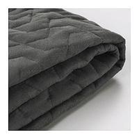 ЛИКСЕЛЕ Чехол на 2-местный диван-кровать, Валларум серый, фото 1