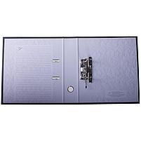Папка-регистратор 70 мм, черная с карманом на корешке, фото 2