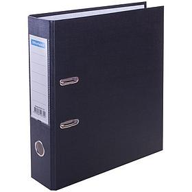 Папка-регистратор 70 мм, черная с карманом на корешке