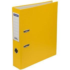 Папка-регистратор 70 мм, желтая с карманом на корешке.