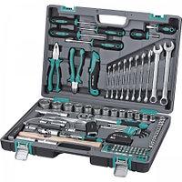 Набор инструментов в пластиковом кейсе 1/2 1/4 CrV Stels 98 предметов