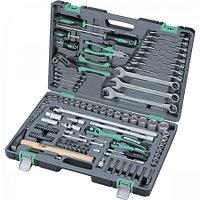Набор инструментов в усиленном кейсе 1 1/4 1/2 Cr-V S2 Stels 119 предметов