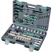 Набор инструментов в усиленном кейсе 1 1/2 Cr-V S2 Stels 58 предметов