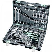 Набор инструментов в усиленном кейсе 1 1/4 3/8, 1/2, Cr-V S2 Stels 216 предметов