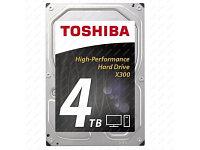 """Жесткий диск TOSHIBA HDWE140UZSVA/HDETR11ZPA51F X300 BULK High-Performance 4ТБ 3,5"""" 7200RPM 128MB SATA-III, фото 1"""